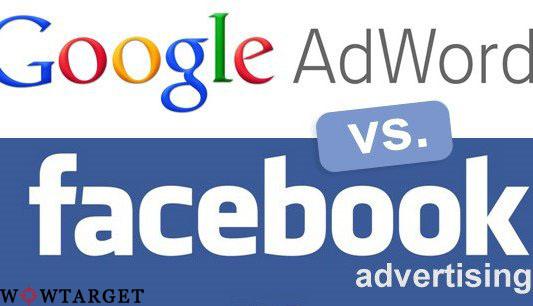 реклама в гугл или фейсбук