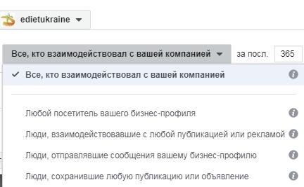 Пользовательская аудитория для Инстаграм